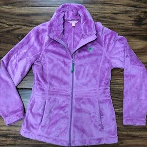 Fuzzy Fleece Zip-up Jacket